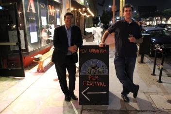 CNU Board Member Chris Elisara PhD with winning director John Paget
