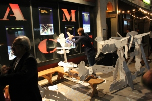 Interactive Architecture outside the festival presented by Urban Conga.