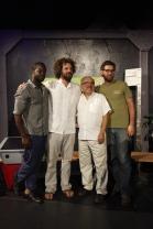 Travis Knight and crew with Diego Cardoso