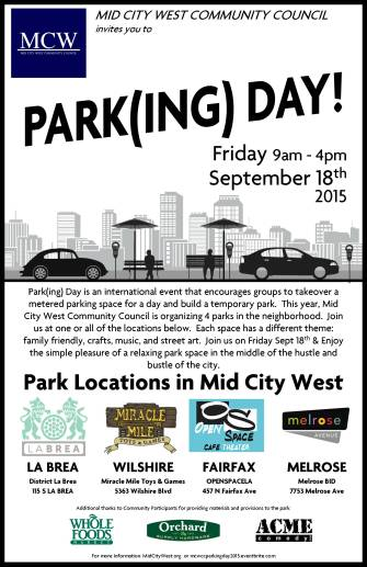 MCW Parking Day 2015
