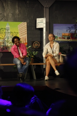 Tamika Butler (LA Bicycle Coalition) and Nona Varnado (LA Bike Trains)