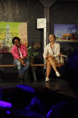 Tamika Butler (LA Bicycle Coalition) and Nona Varnado (LA Bike Trains)